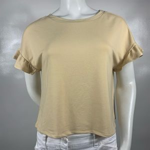 3For$20 Material Girl Creme Cropped Top Size: XL